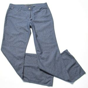 Joes Jeans Pants Chambray Blue Wide Legs